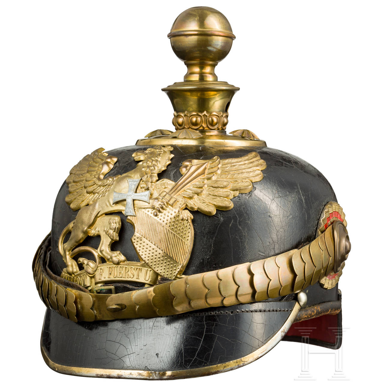 Helmet of a reserve officer of the field artillery, c. 1900