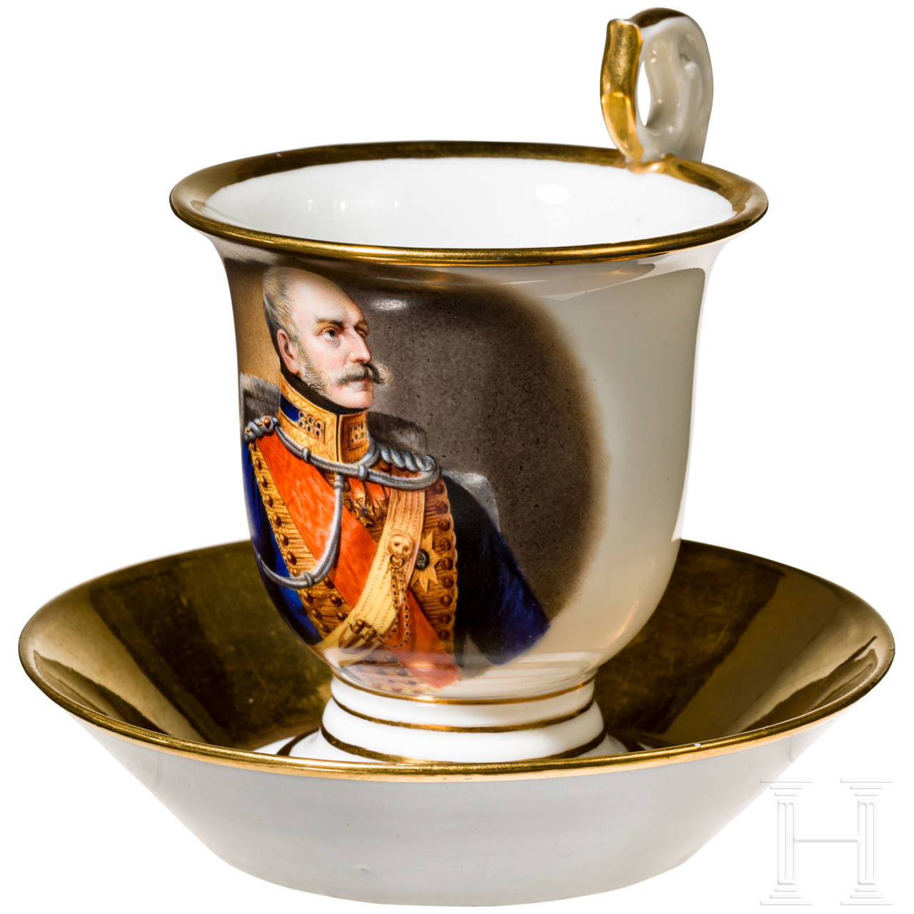 Ernst August I, King of Hanover - portrait cup, c. 1840