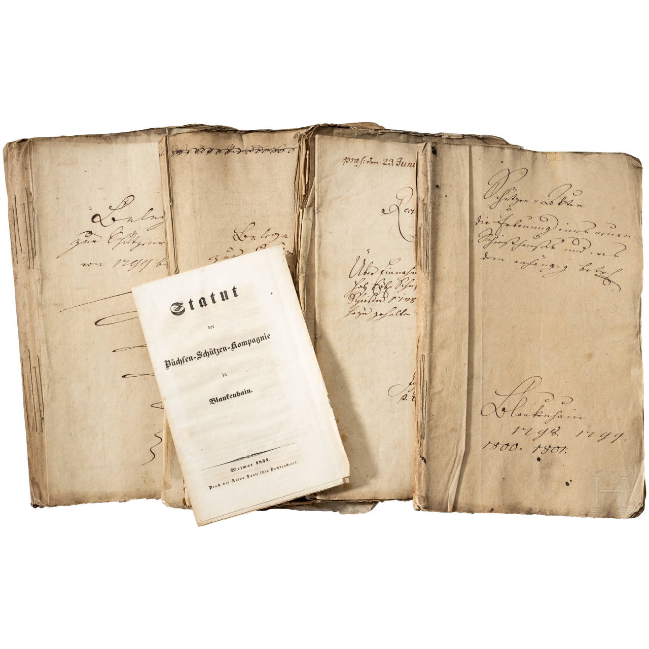Documents of the riflemen's company Blankenhain, 1747 to 1801