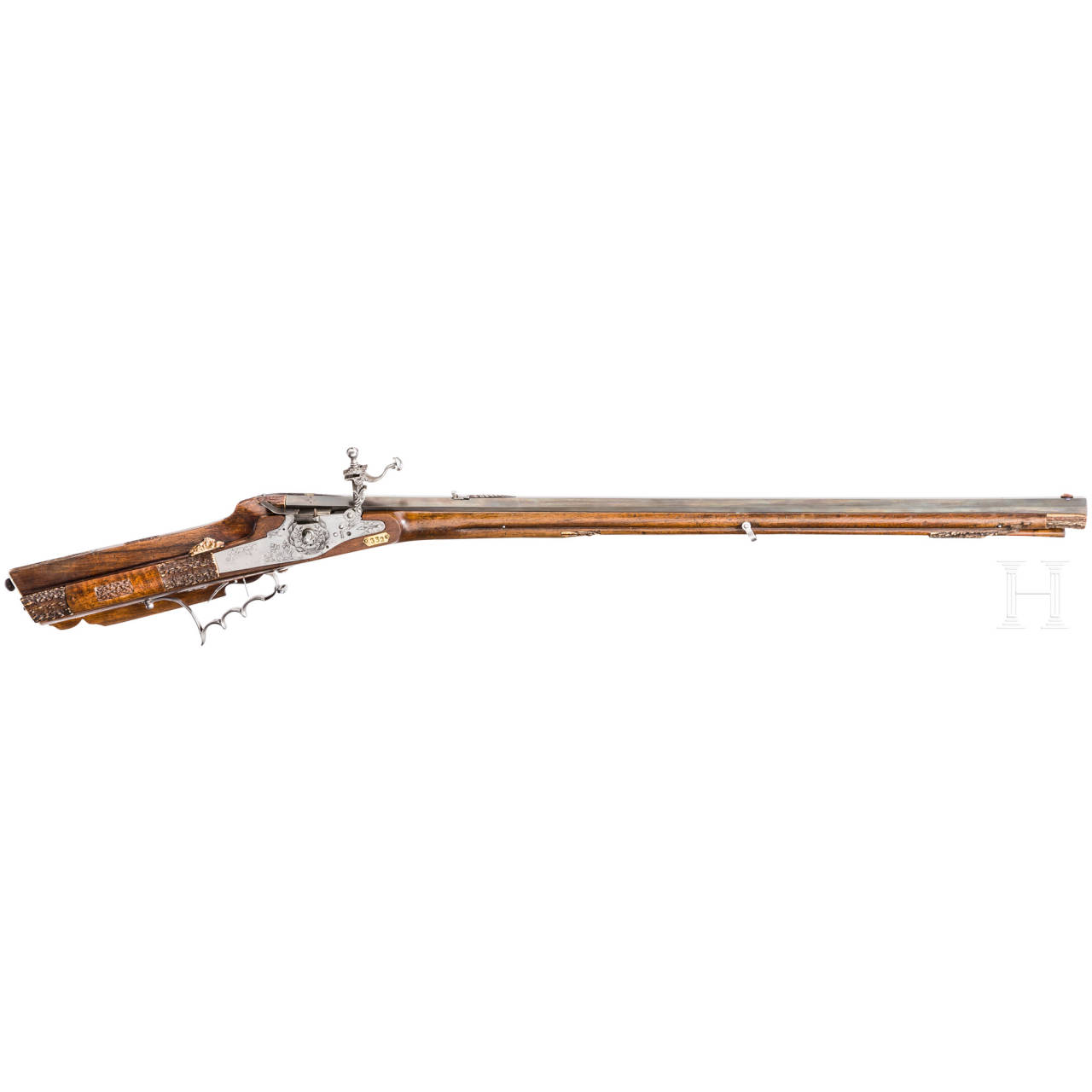 A wheellock rifle, Johann Krach of Salzburg, dated 1657