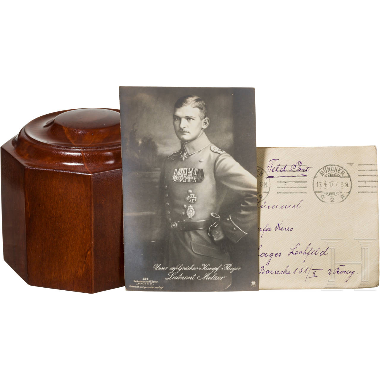 "Wooden base for the cup of honour ""To the winner in air combat"""