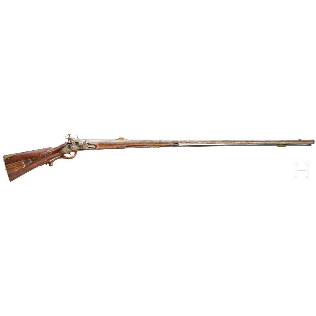 A flintlock rifle, Johann Puchner, German, ca. 1700