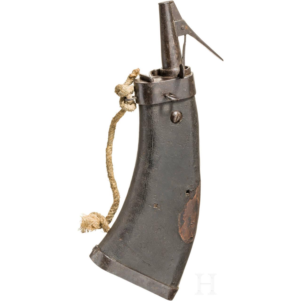 A military powder flask, German, ca. 1600