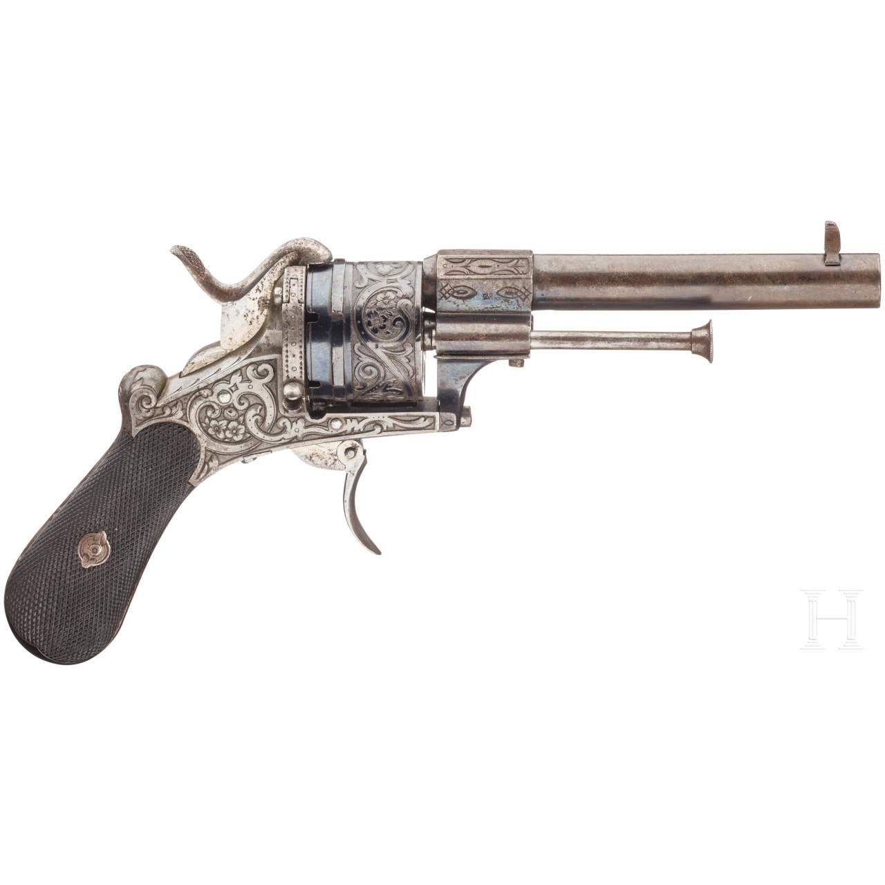 A pinfire revolver, LePage, Paris