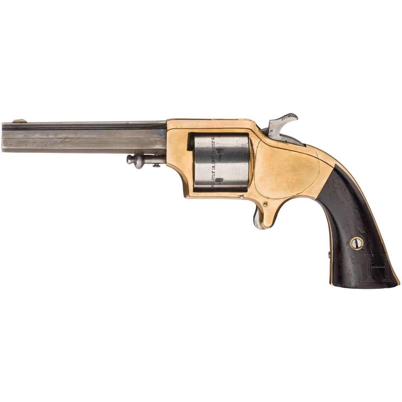An Eagle Arms cupfire revolver