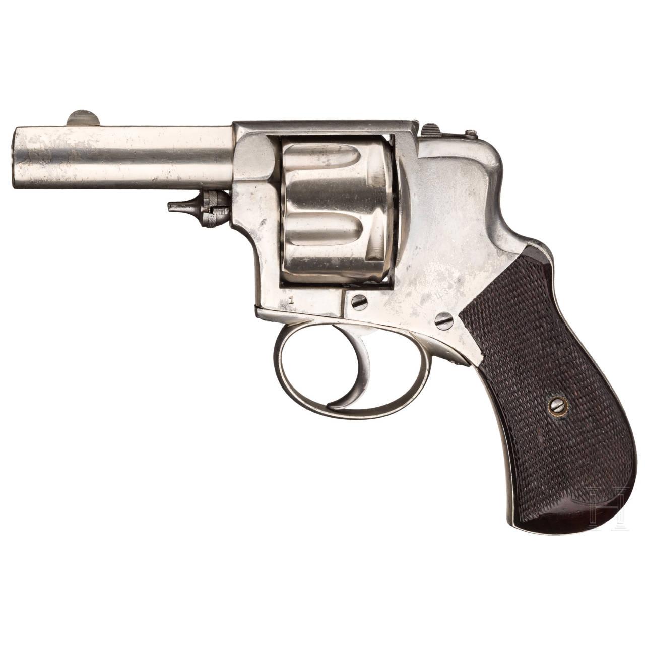 A hammerless Levaux revolver, Liège, prototype, circa 1880