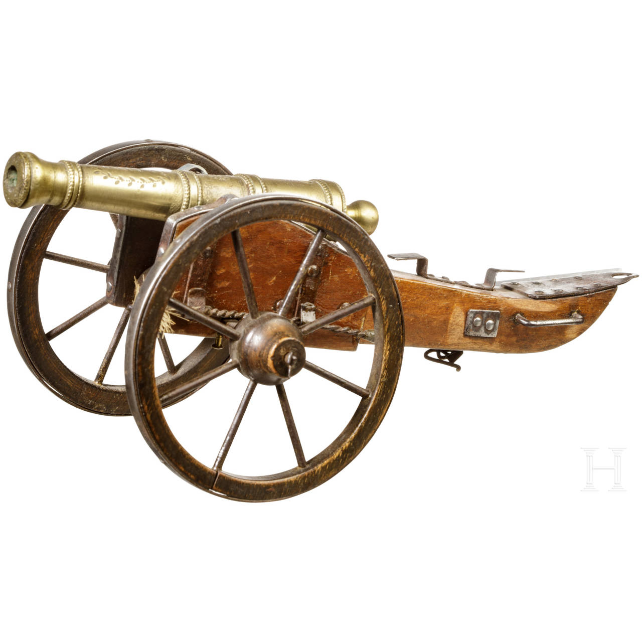 A model cannon, French, 19th century