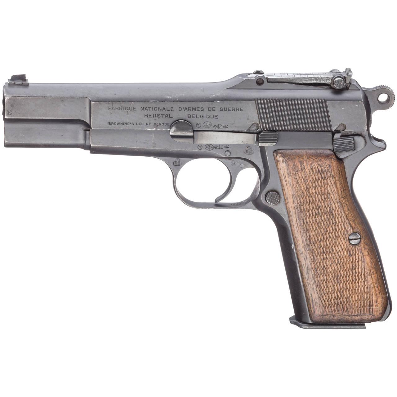 FN GP (Grande Puissance) Mod. 35, mit Anschlagbrett
