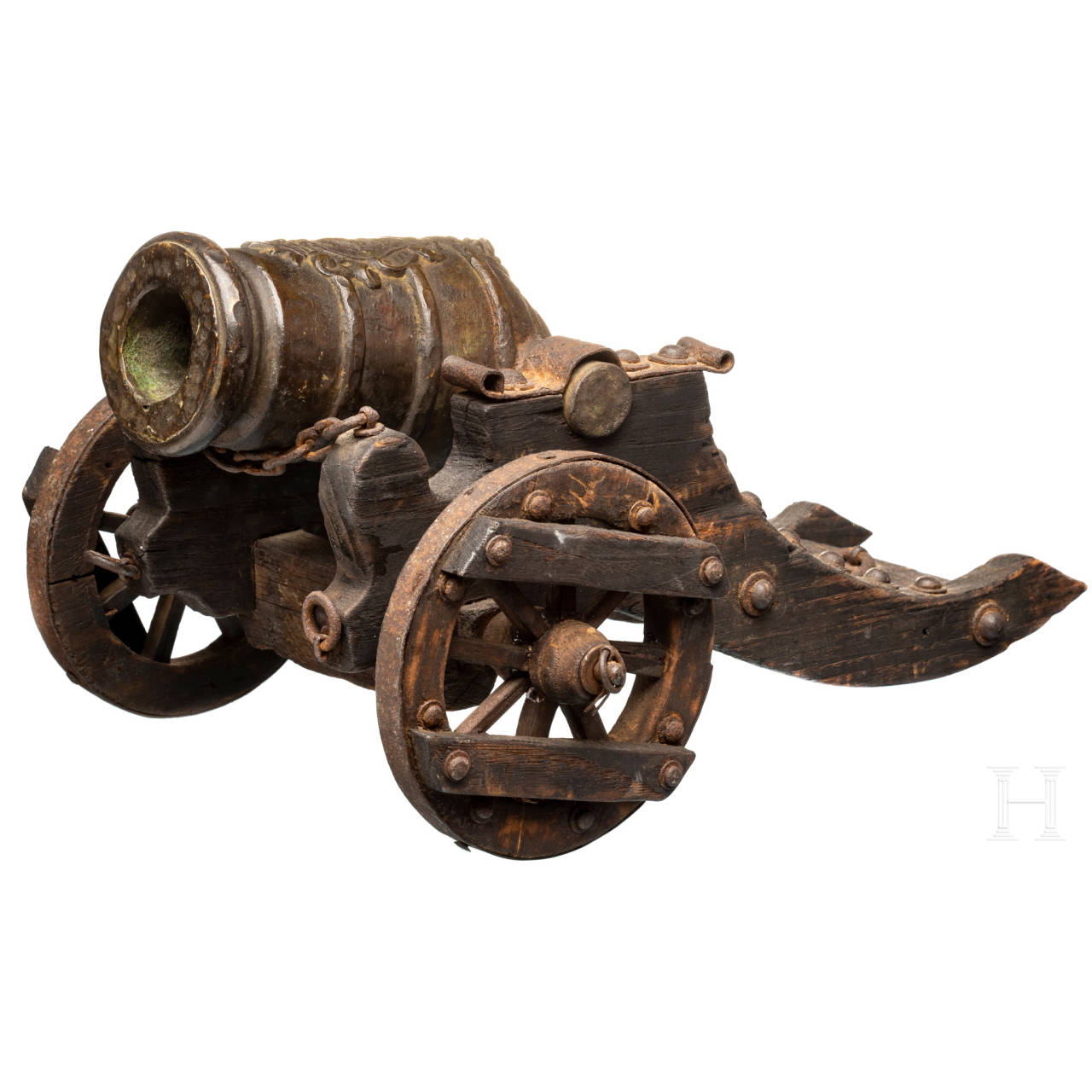 A model cannon, 19th century