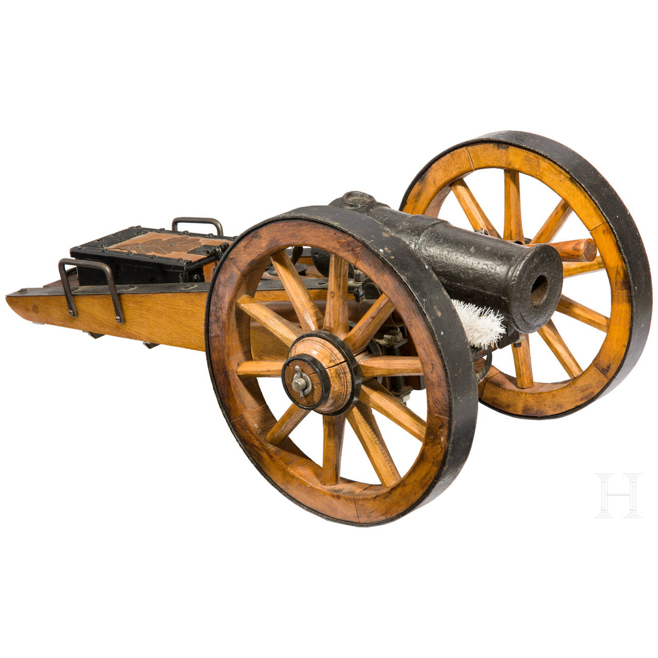 A saluting cannon, collector's replica in the style of the 18th/19th century