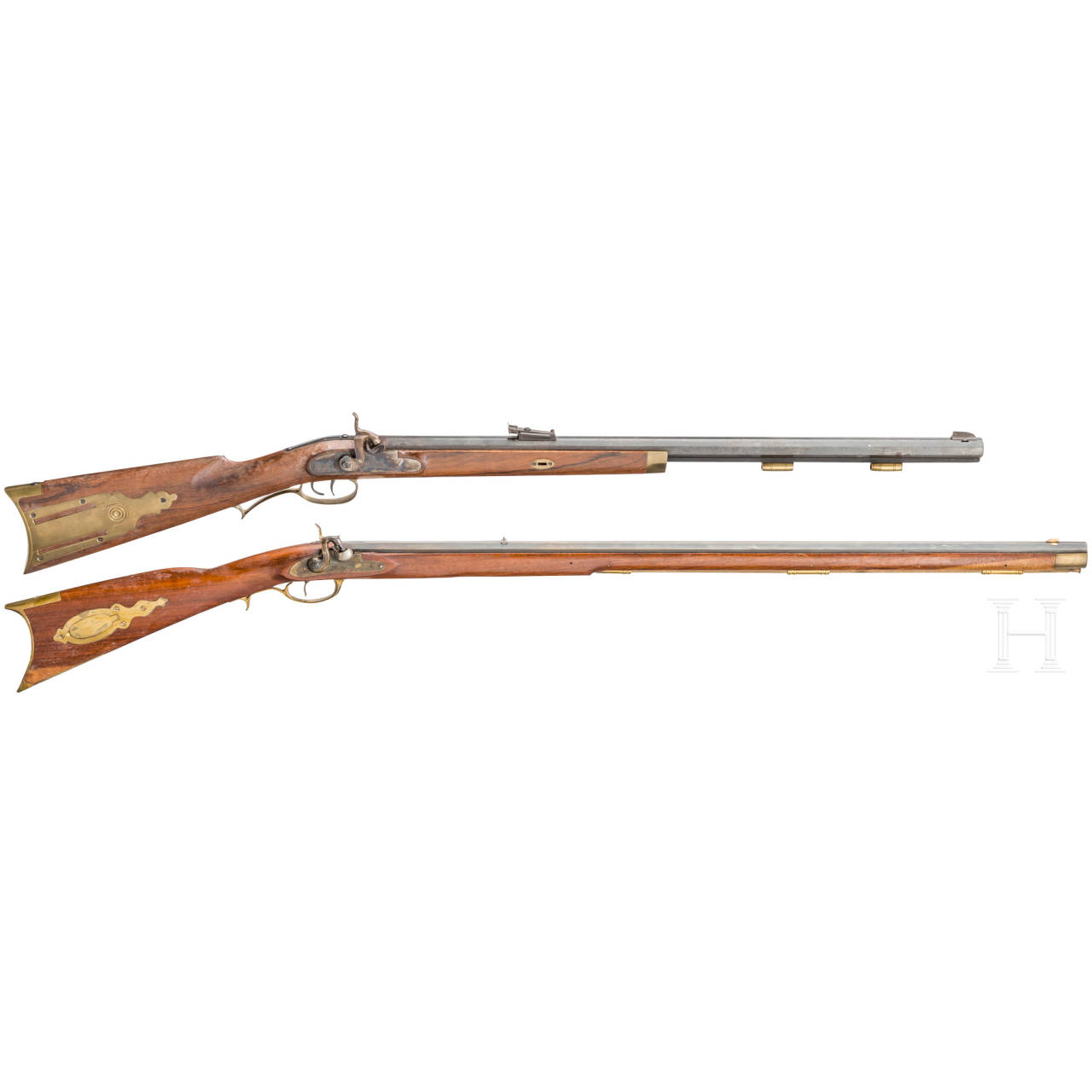 Two percussion rifles, collector's replicas
