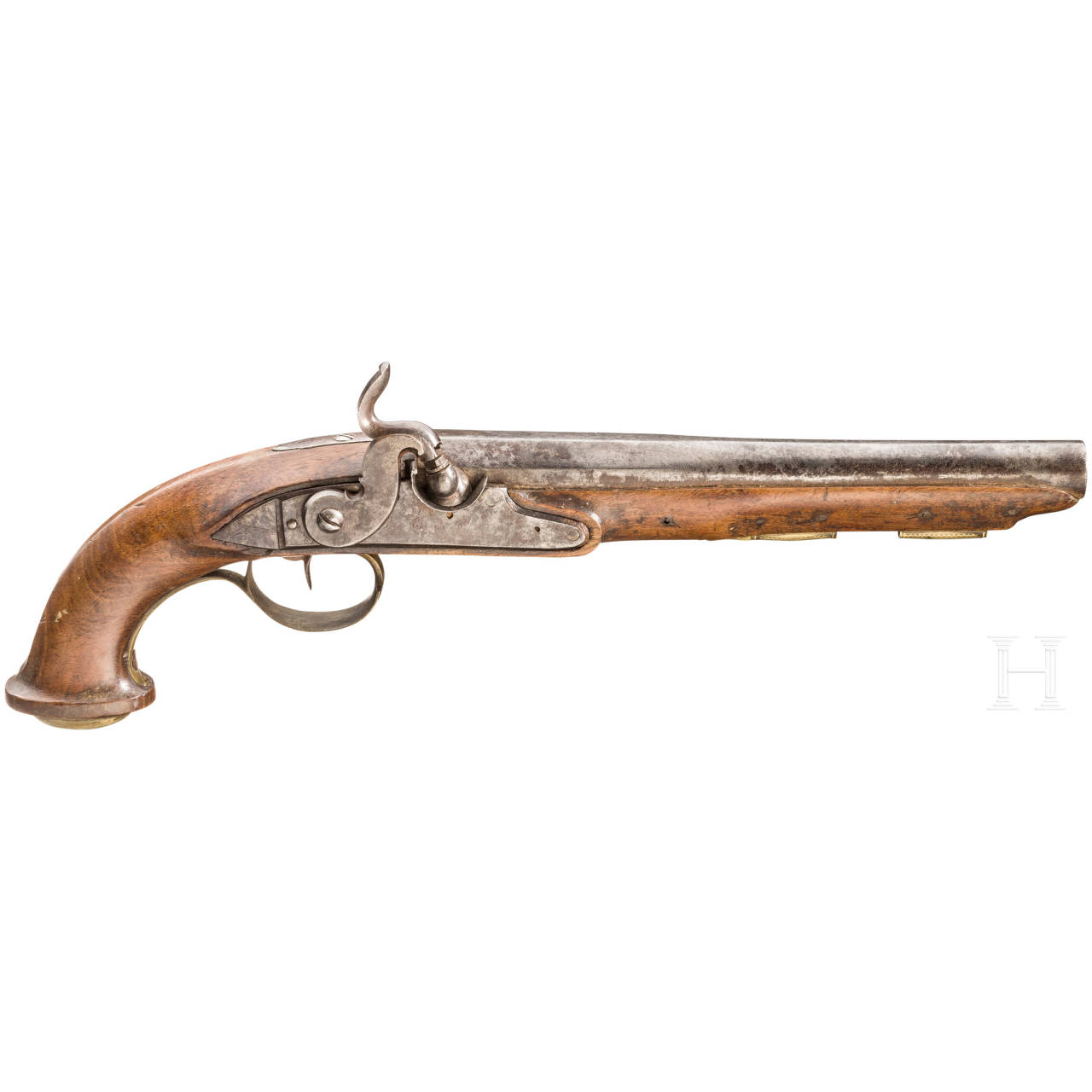 A percussion pistol, France, ca. 1800
