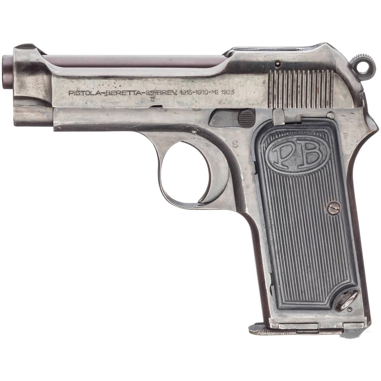 Beretta Mod. 1923, mit Tasche und Anschlag, Forstpolizei