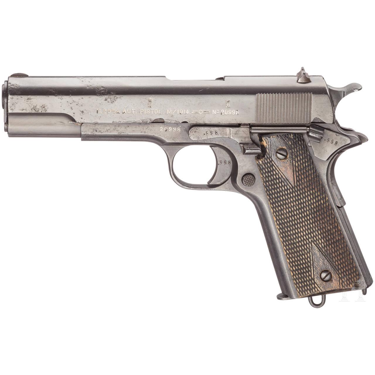 Colt Kongsberg Mod. 1914, mit Tasche