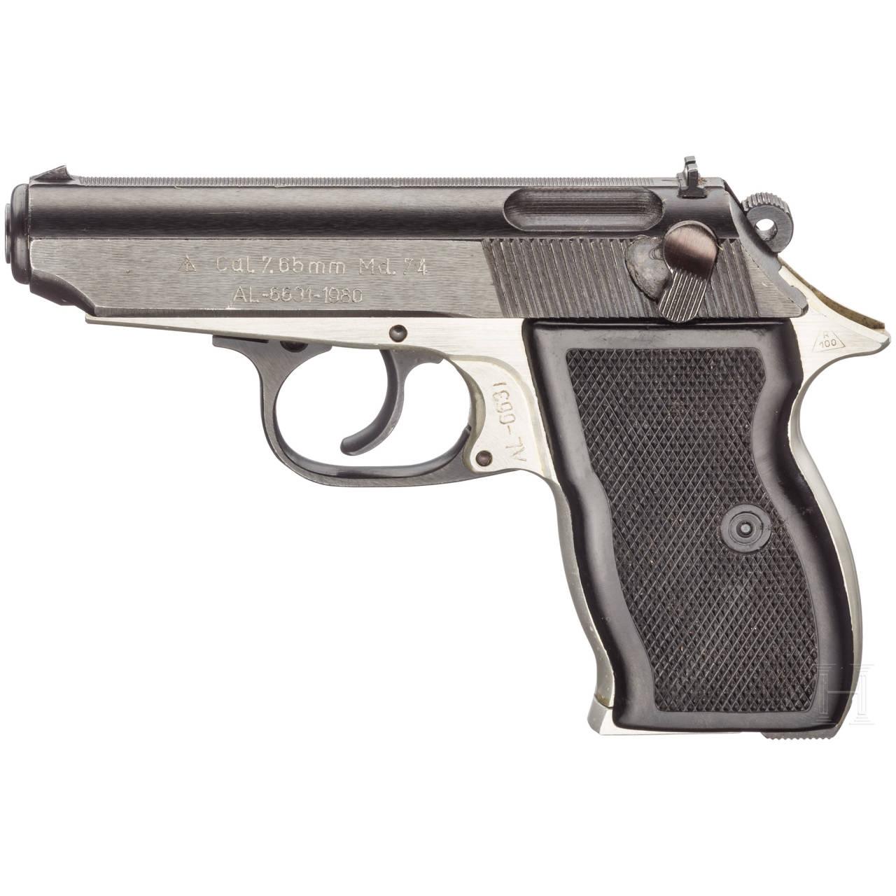 Pistole Mod. 74, mit Tasche, Securitate, Polizei und Militär