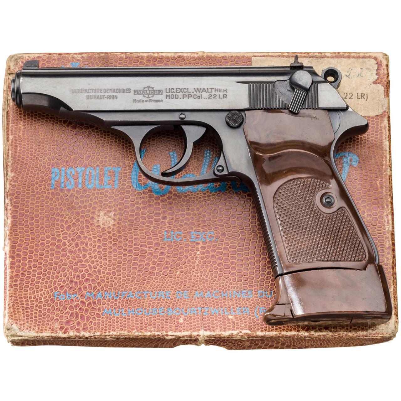 Walther-Manurhin PP, Ordonnanz, im Karton, 1. Waffe eines Pärchens