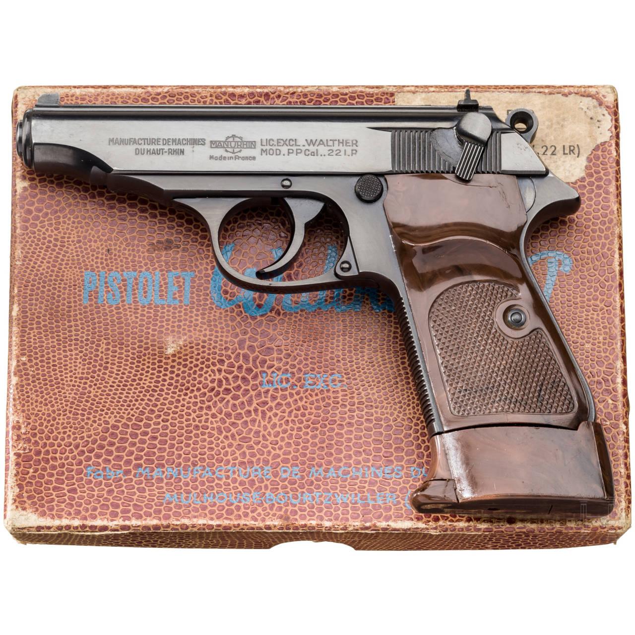 Walther-Manurhin PP, Ordonnanz, im Karton, 2. Waffe eines Pärchens