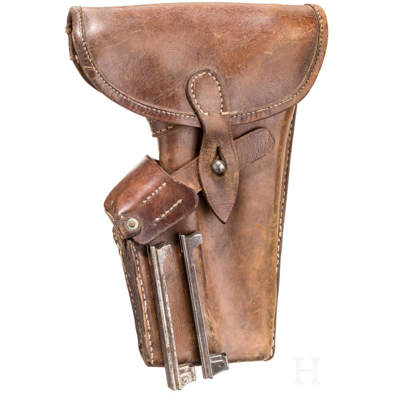 Tasche für Roth-Steyr Mod. 07, mit zwei Ladestreifen