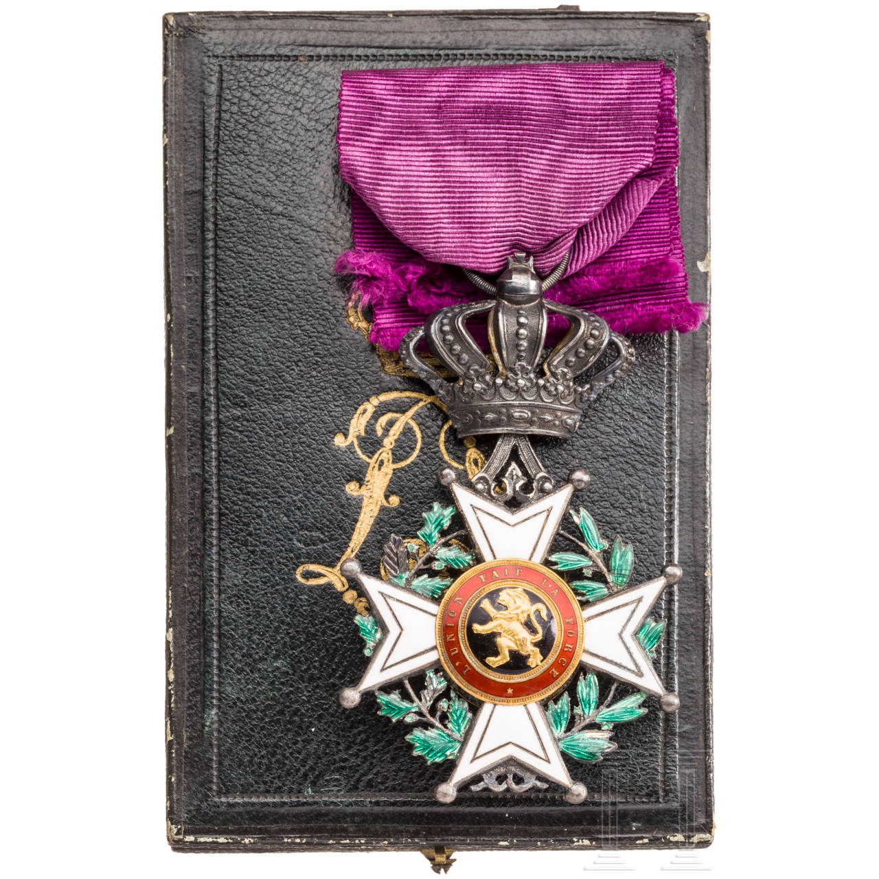 Order of Leopold - knight's cross in a case, Belgium