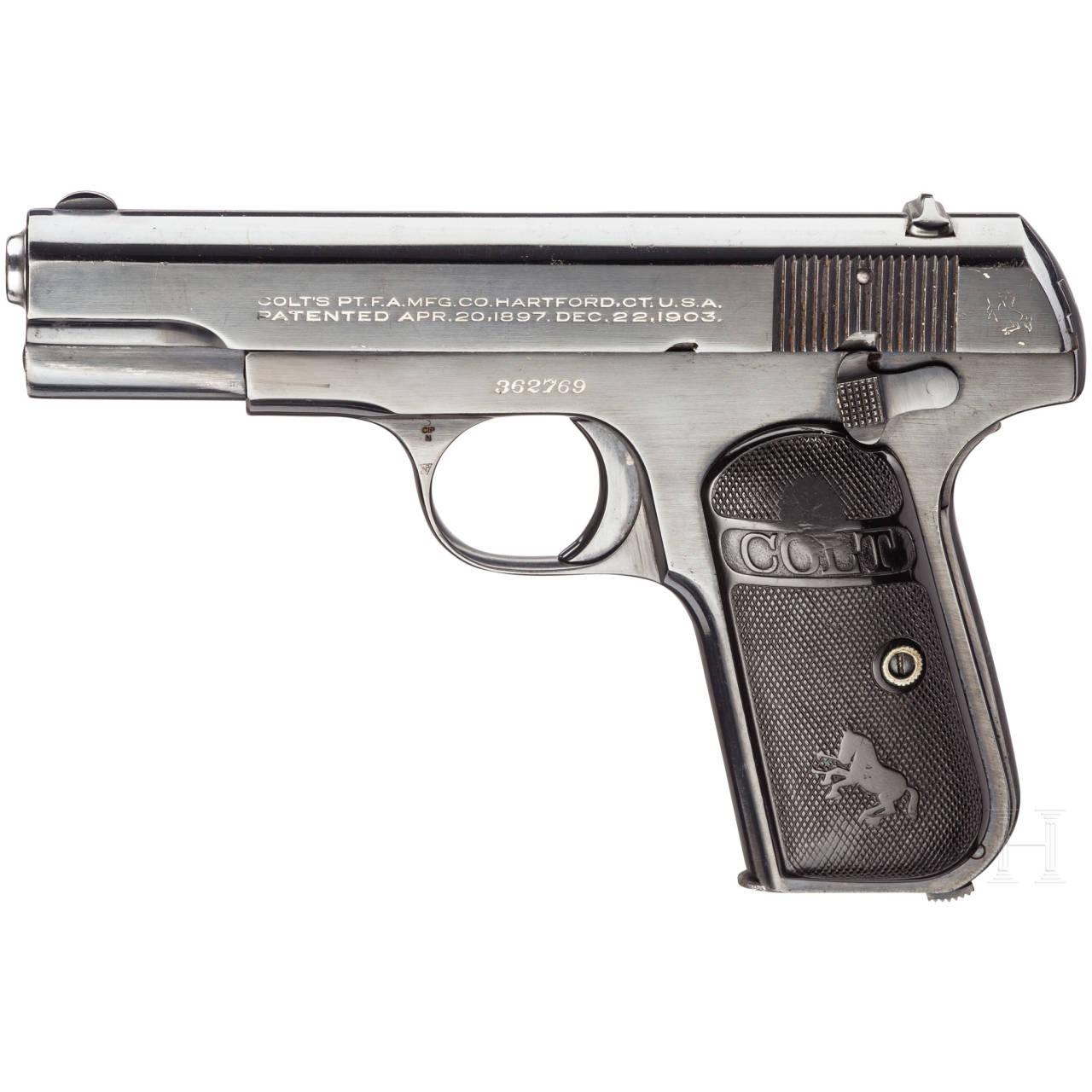 Colt Mod. 1903 Hammerless .32 Pocket, mit Tasche