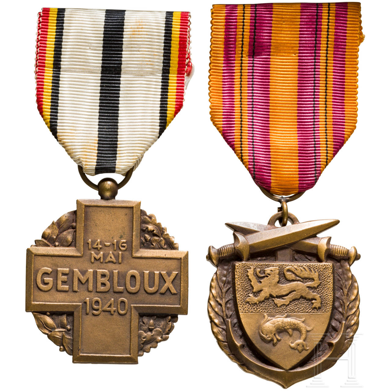 Two war medals, France, 1940