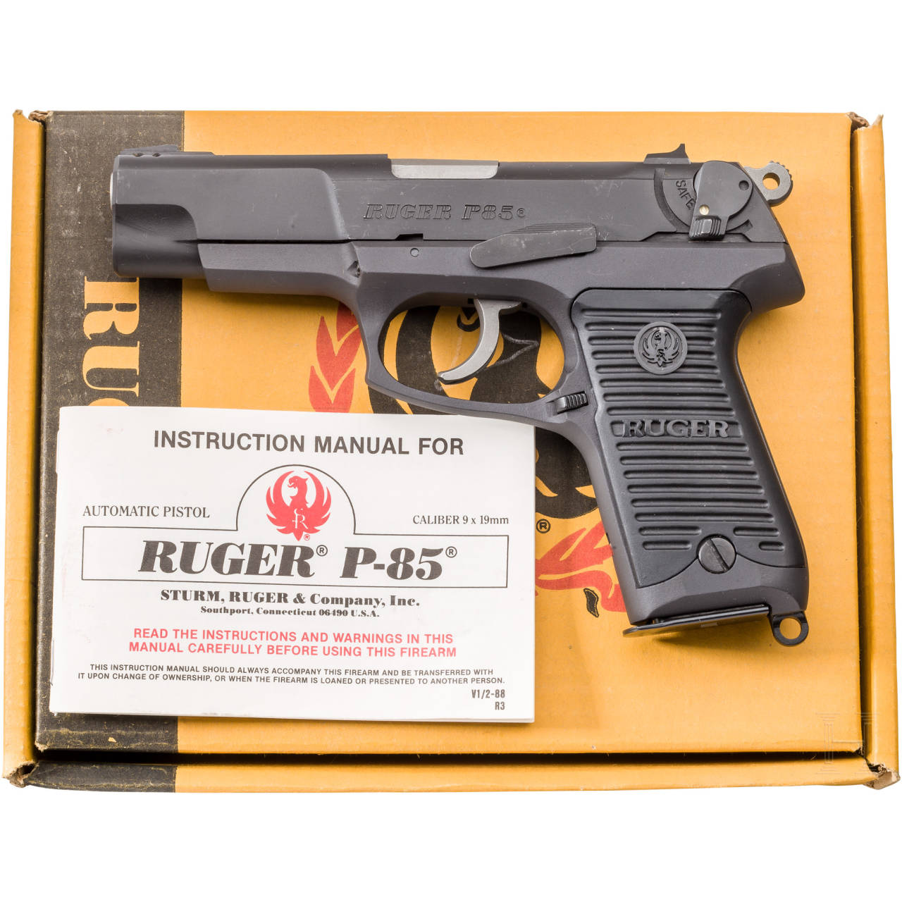 Ruger P 85, im Karton