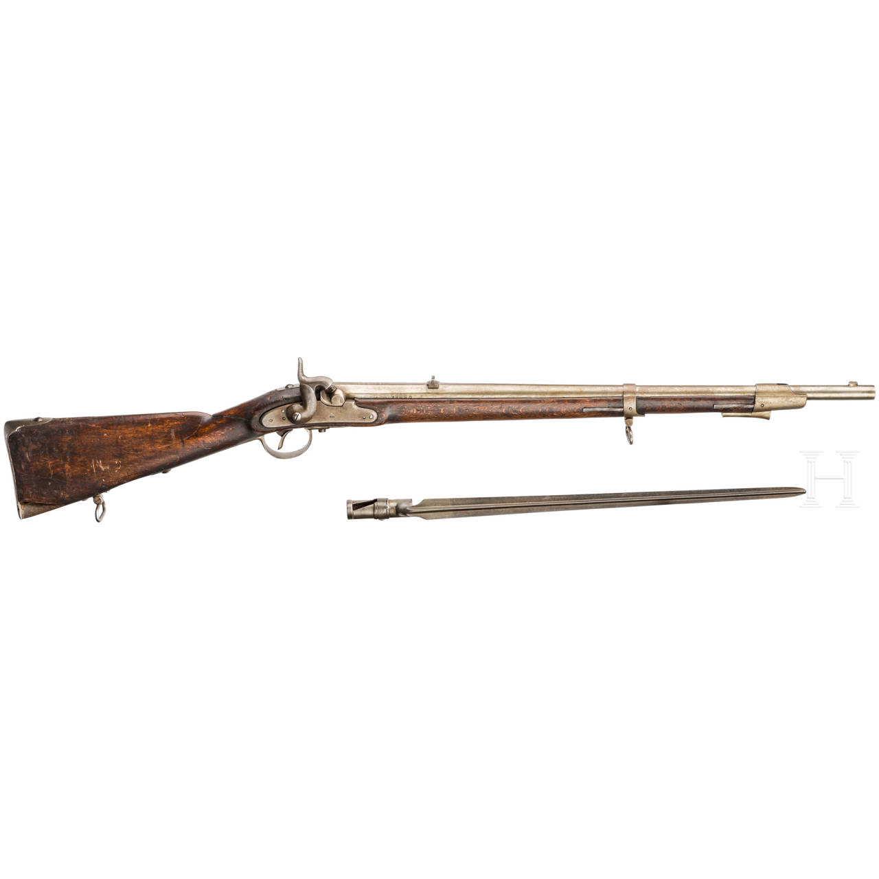 Extra-Korps-Gewehr M 1854, mit Bajonett