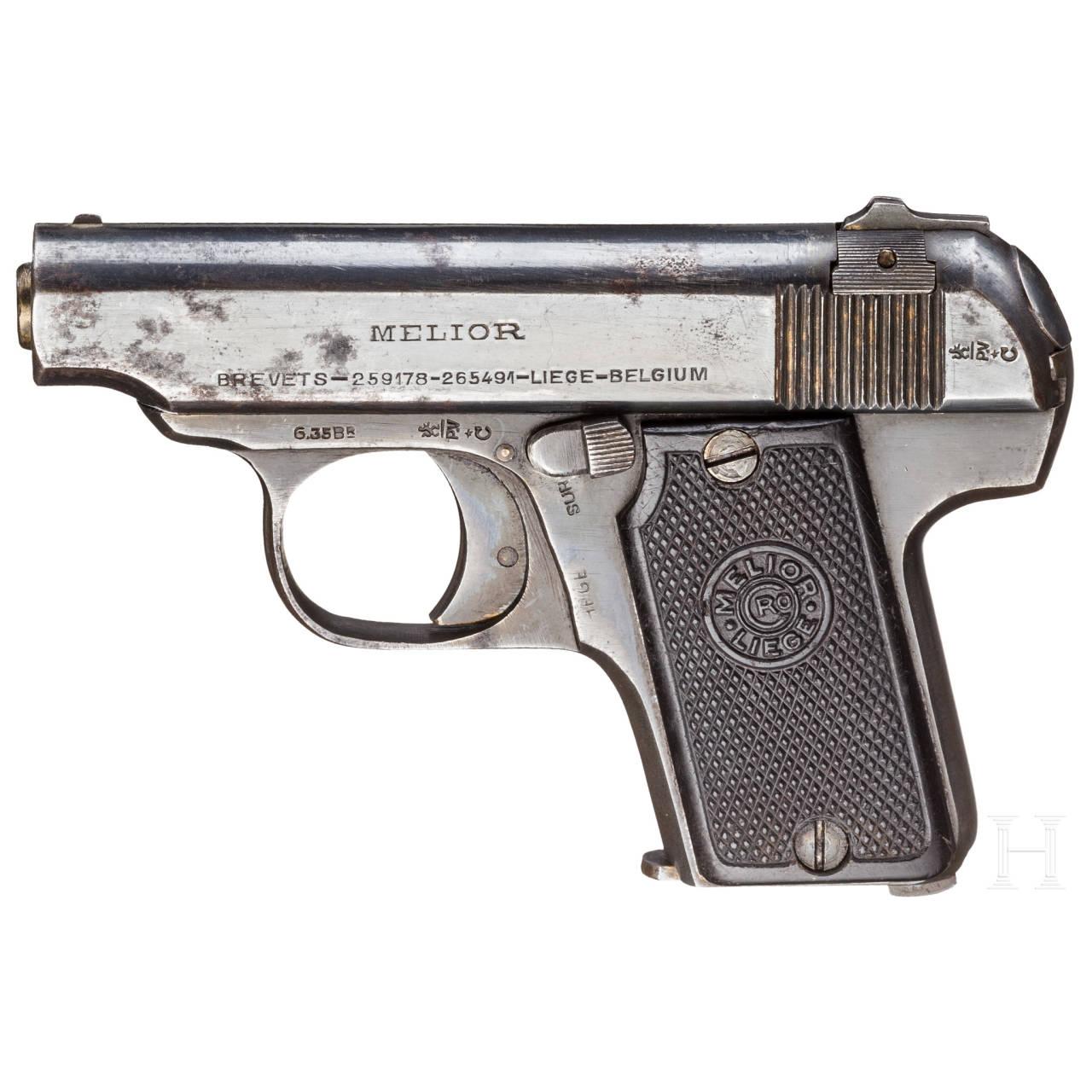 """Melior """"Neues Modell"""", mit Tasche, Offizierswaffe"""