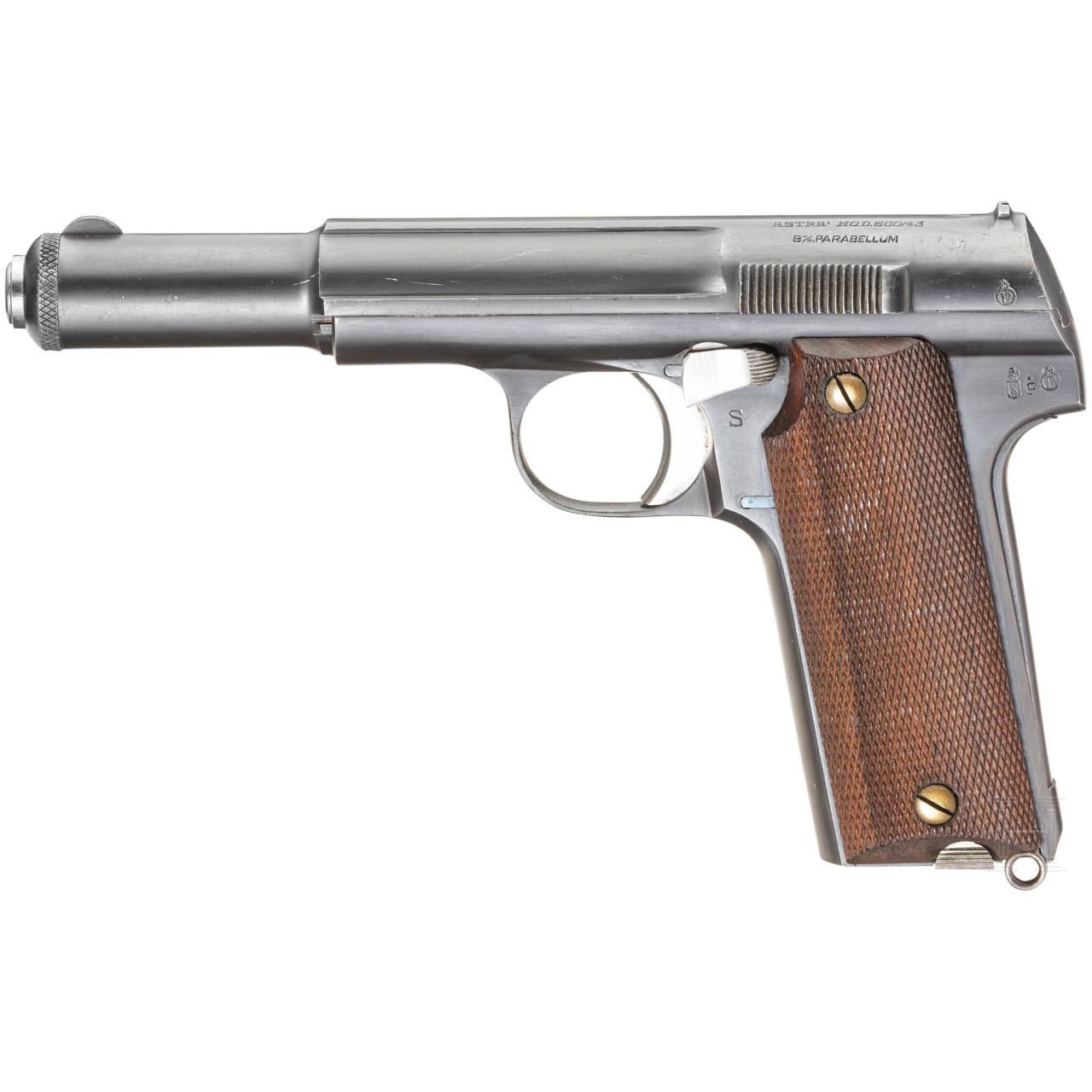 Astra Mod. 600/43, mit Tasche, Bundesgrenzschutz