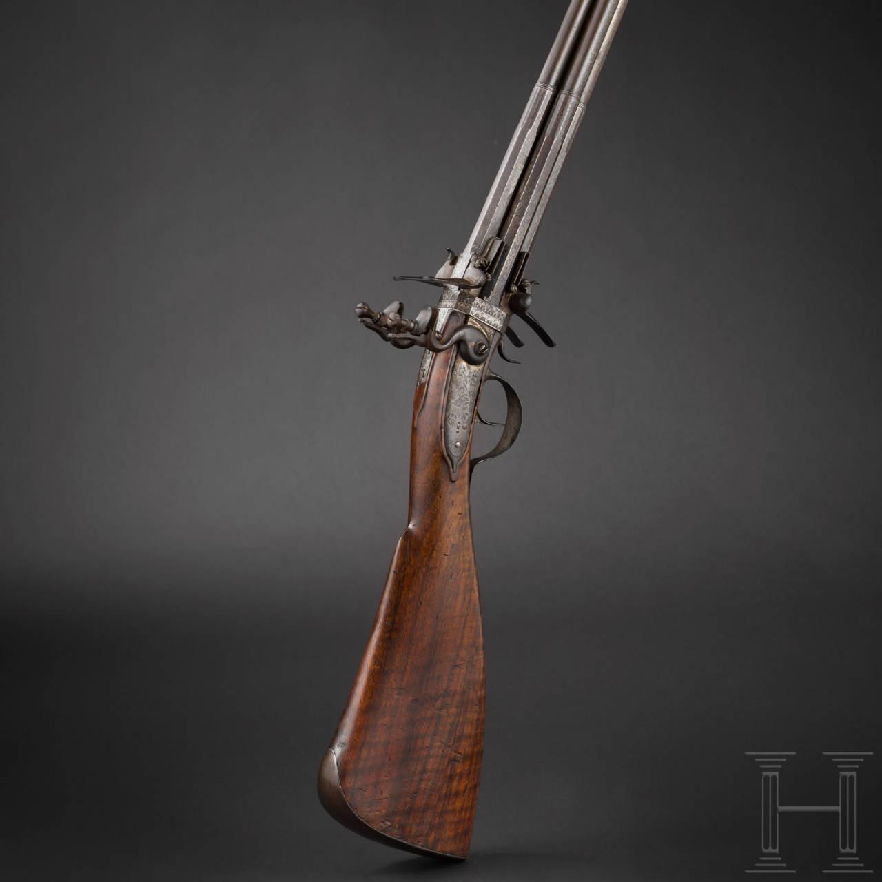 A significant flintlock double turnover gun by Cornelius Clett, Salzburg, circa 1660