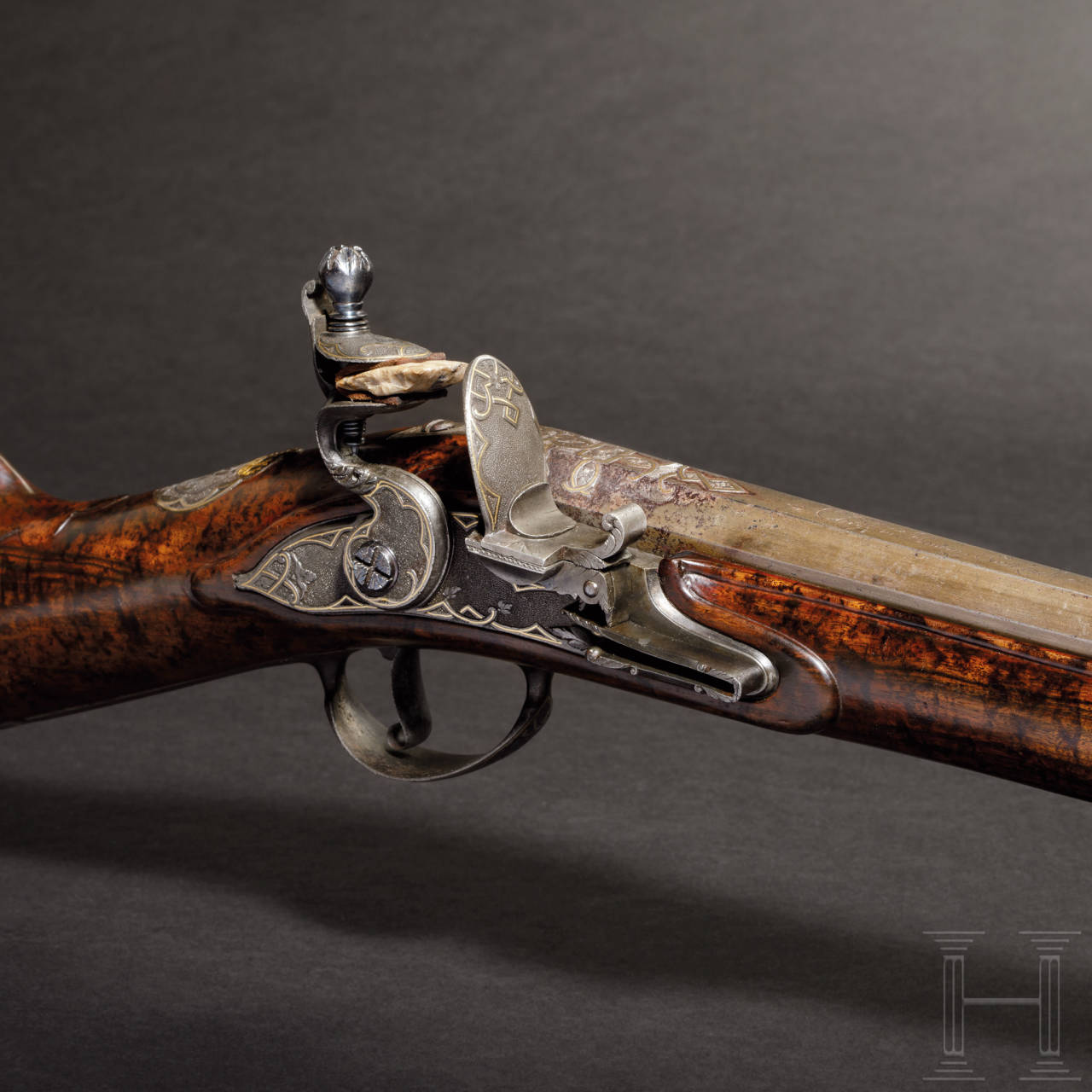 A deluxe flintlock rifle from the armoury of King Frederick I of Prussia (1701-13), Christian Haman, Ansbach, circa 1710