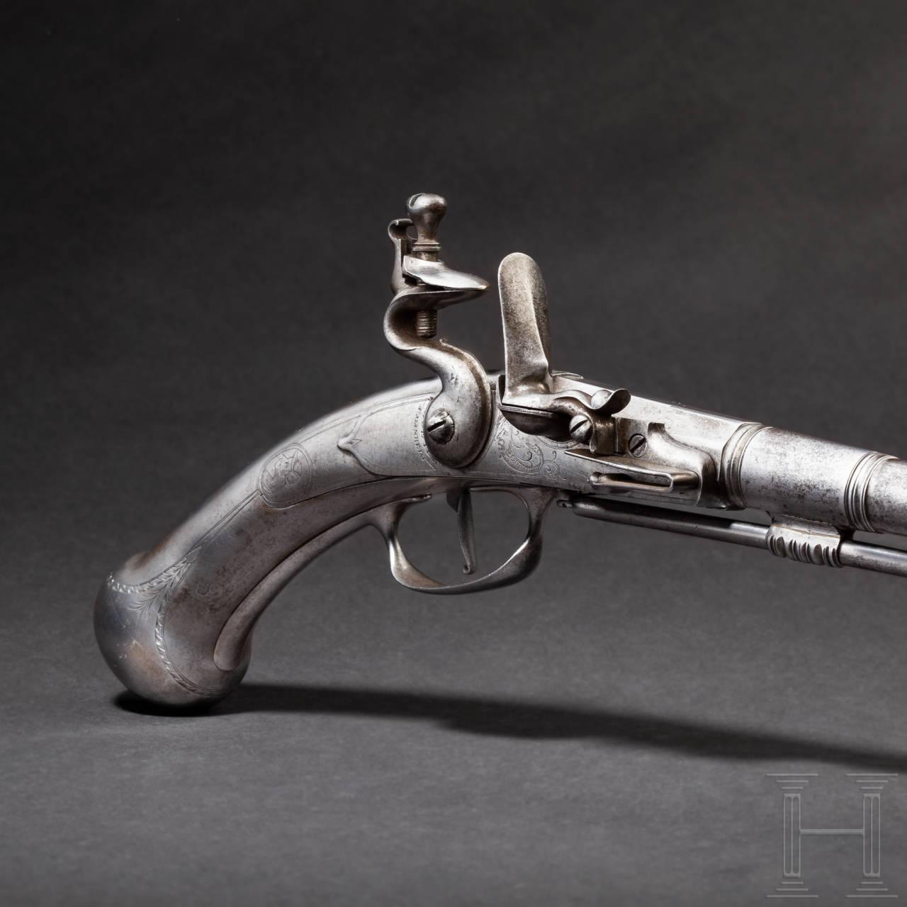 A rare all-metal flintlock pistol, Cloeter, Mannheim, circa 1680/90