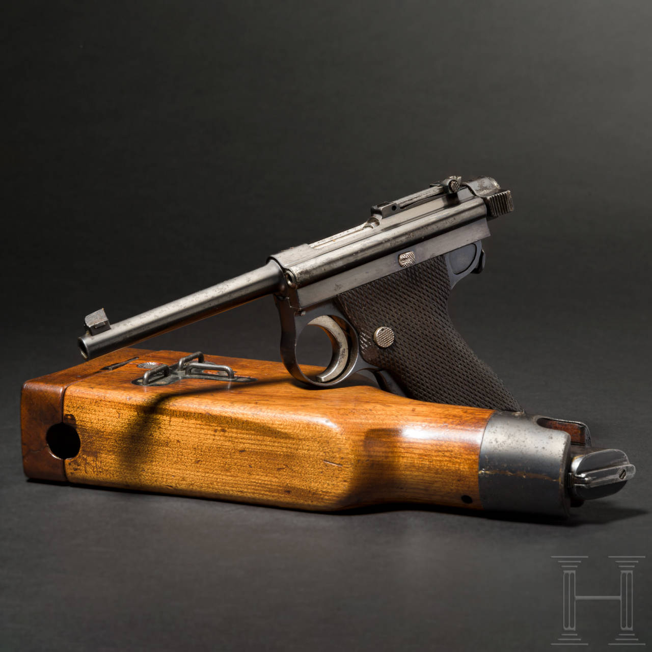 "Pistole Nambu ""Grandpa"" mit Anschlagschaft"