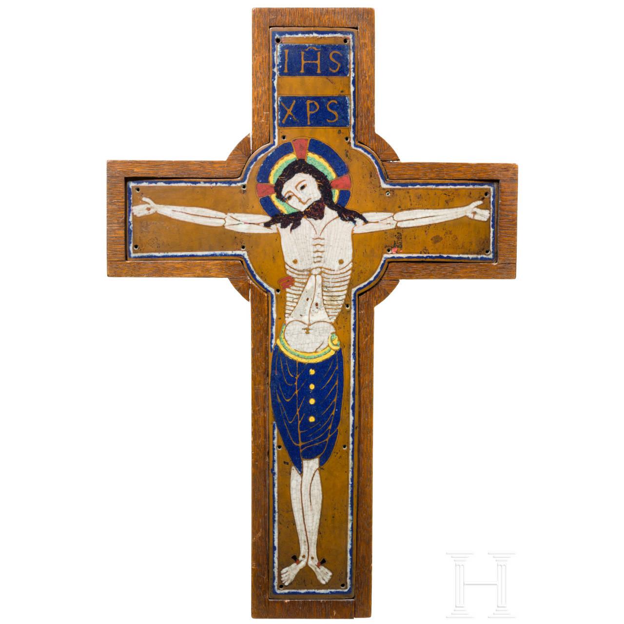 Emailliertes Kreuz, Limoges, um 1900