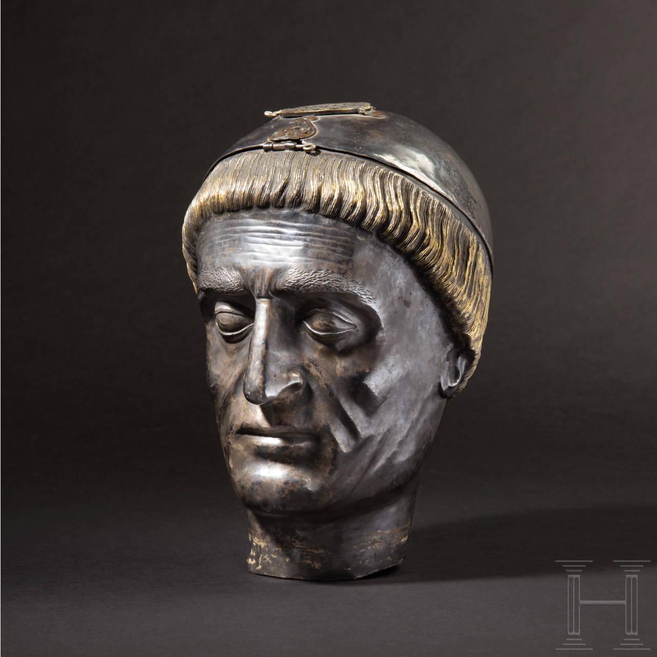 Kopfreliquiar des Heiligen Stephans von Muret, Frankreich, 19. Jhdt.