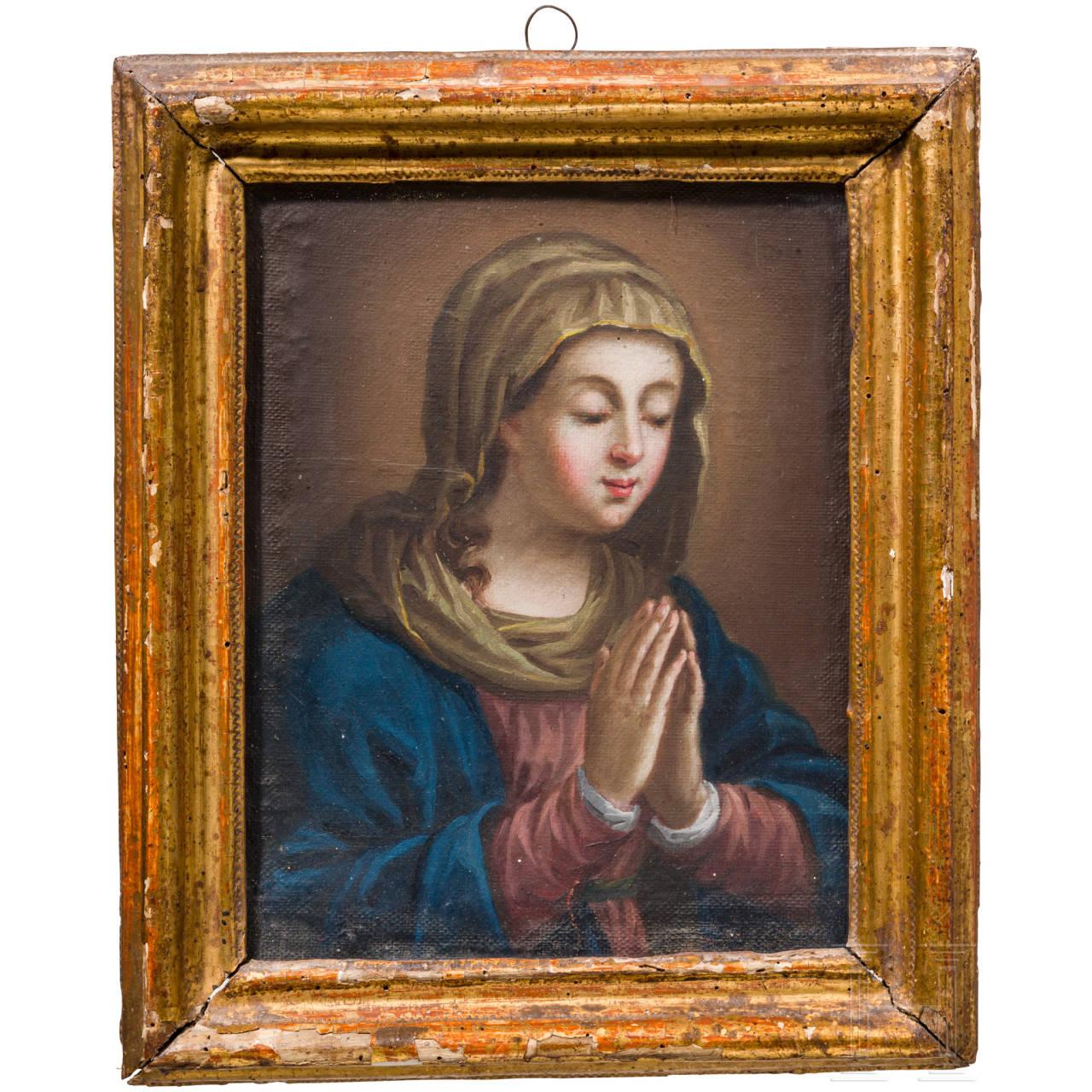 Portrait der betenden Maria, Italien, 17. Jhdt.