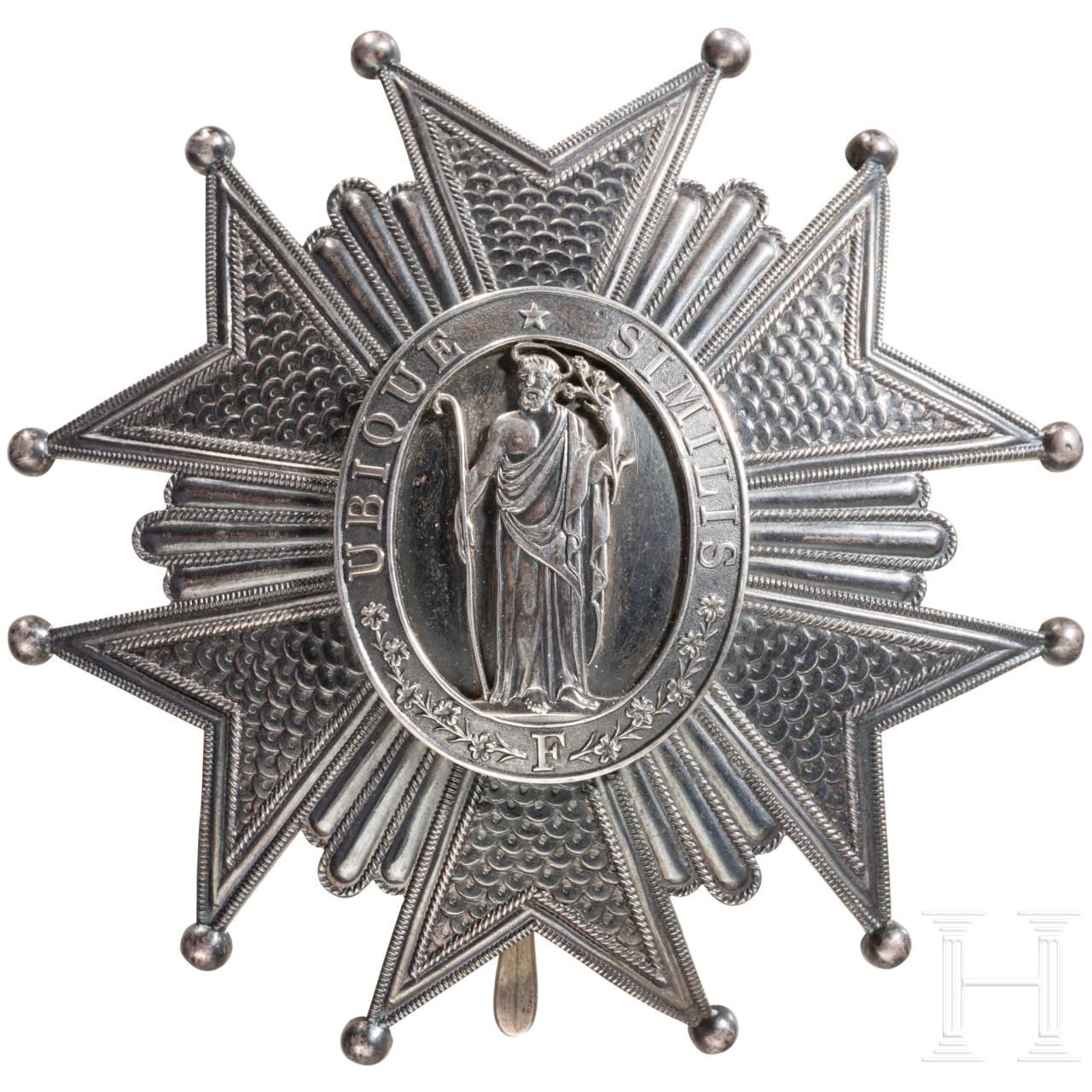 Verdienstorden vom Hl. Joseph, Toskana, Bruststern zum Großkreuz, frz. Fertigung von Lemaitre, Paris