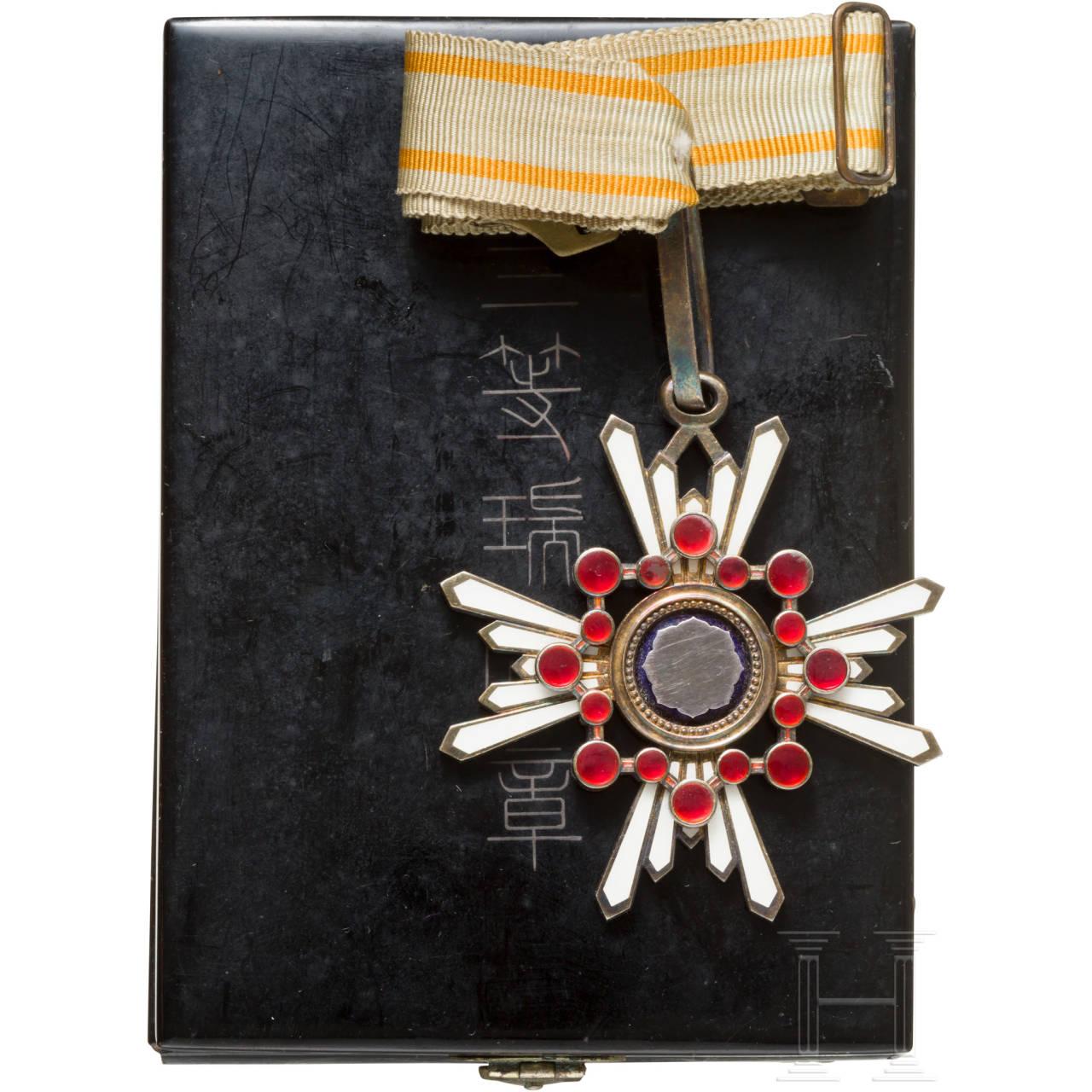 Orden des Heiligen Schatzes, 3. Klasse, mit Trägerfoto, 2. Weltkrieg