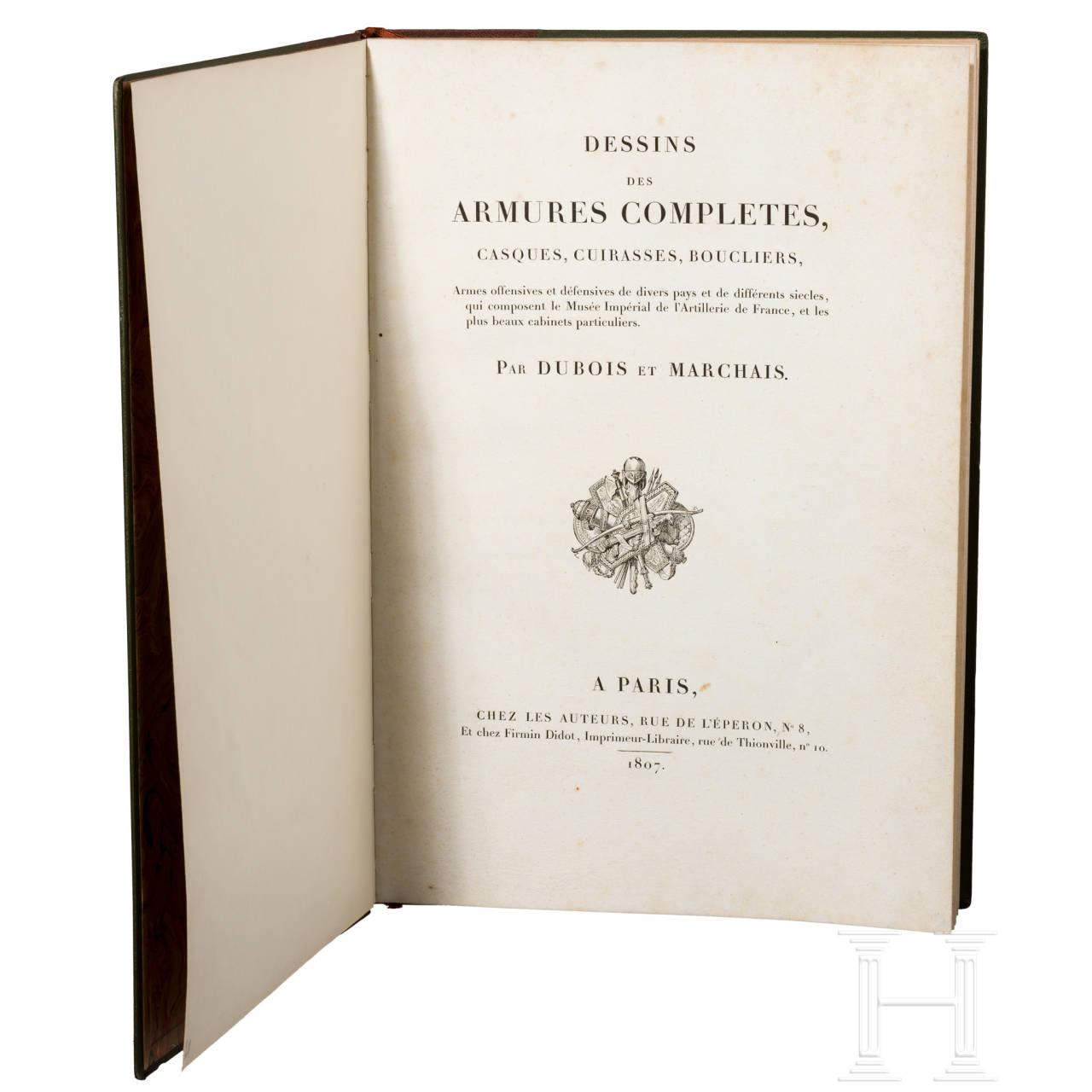 """Dubois/Marchais, """"Dessins des Armures"""", Paris, 1807"""