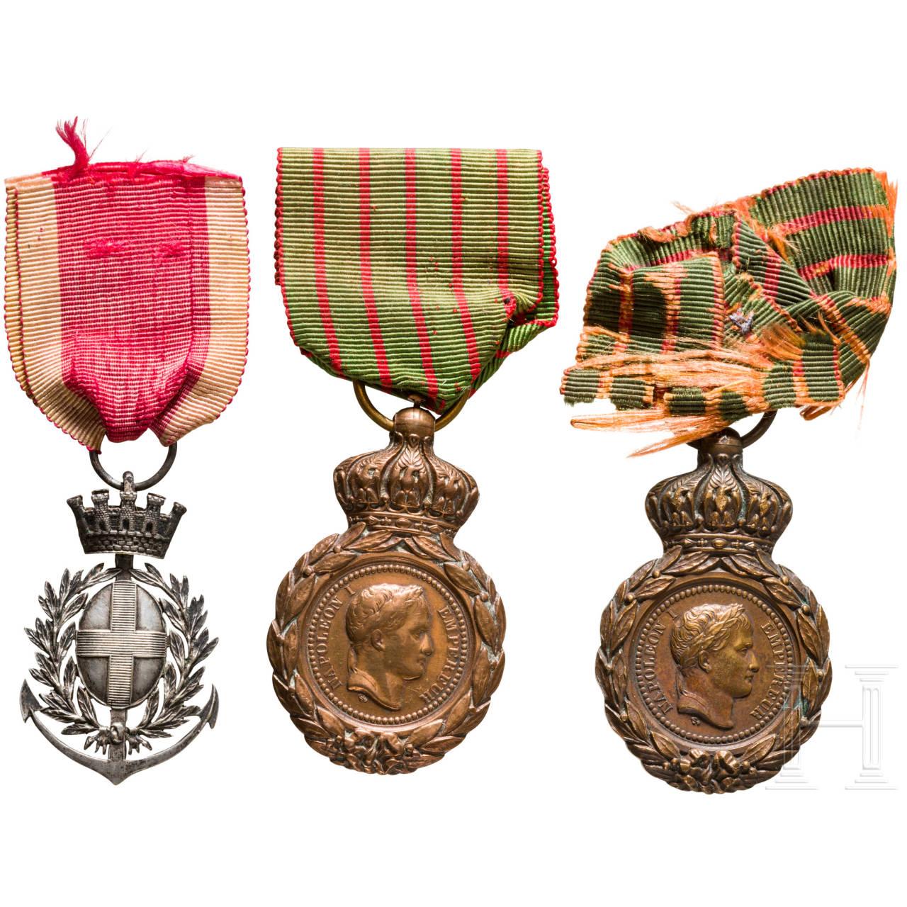 Three medals, France, 19th century