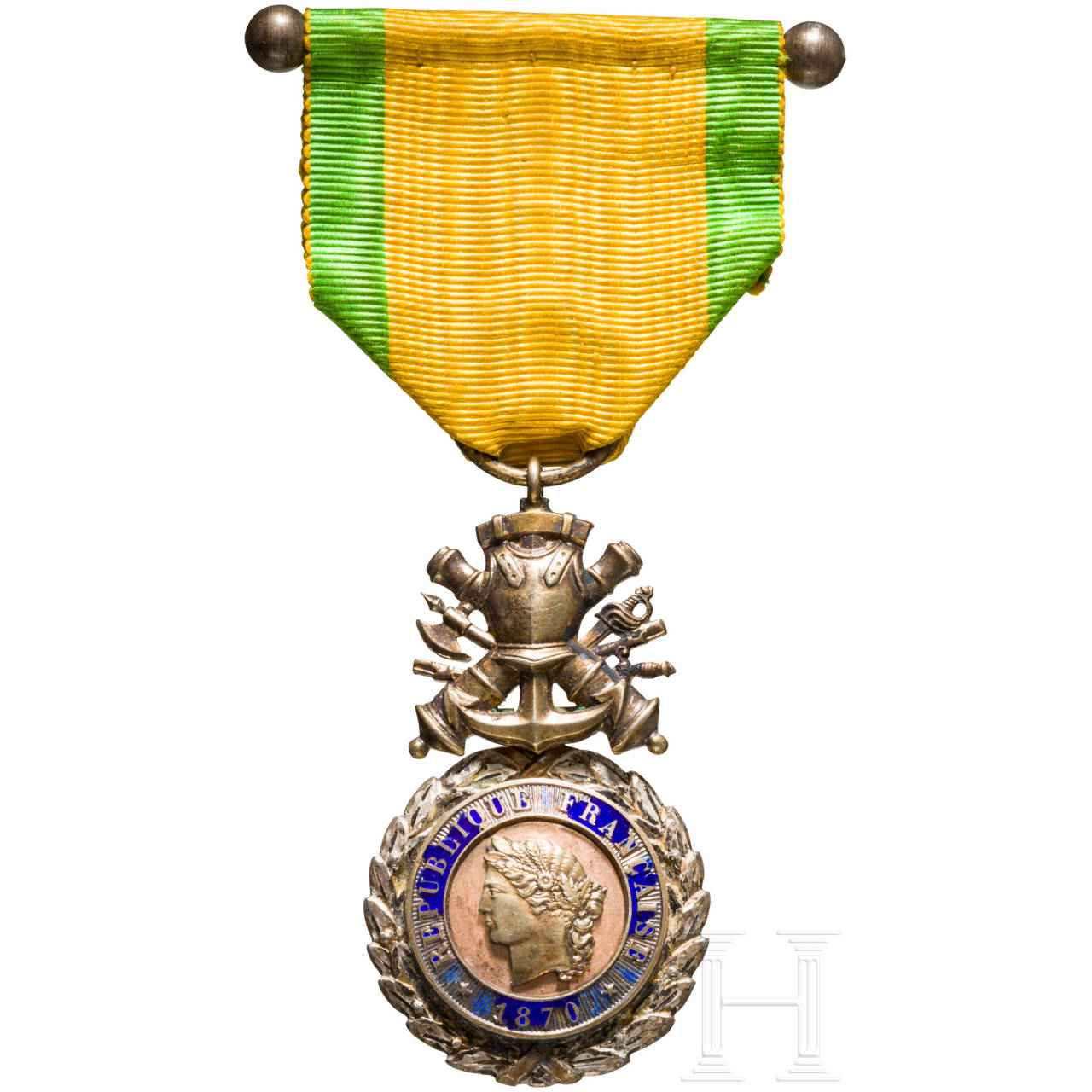 Military medal, France, late 19th century
