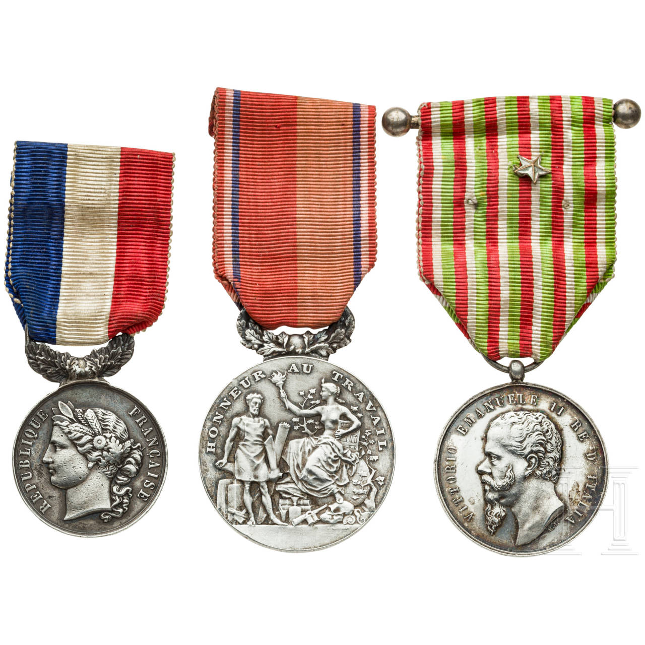 Military medal, France/Italy, late 19th century