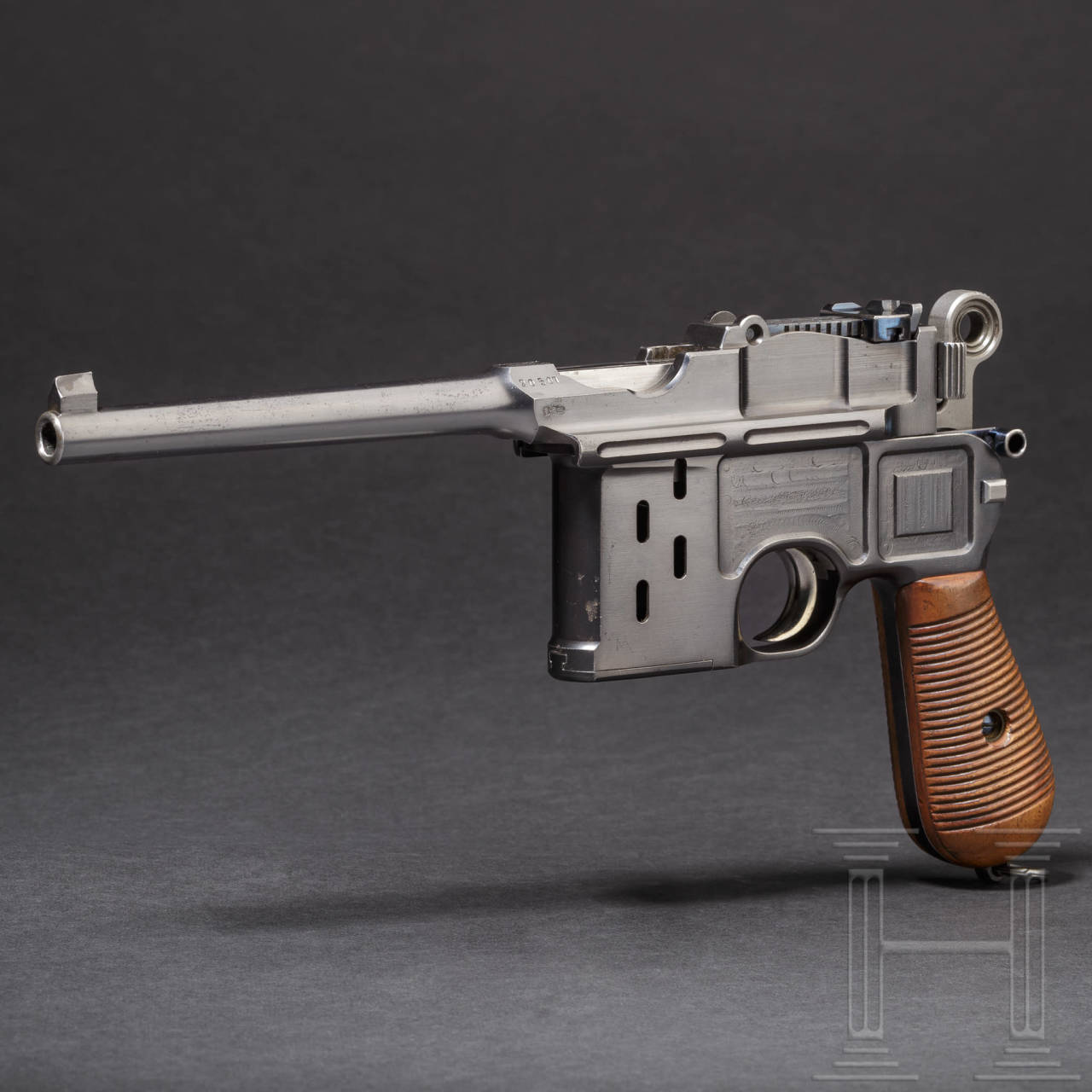 "A Mauser C 96 ""Late Transitional Large Ring Hammer with windows"", trial"