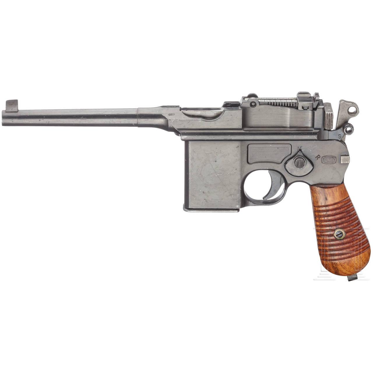 Mauser C 96 Mod. 1932 (Mod. 712), mit Anschlagkasten