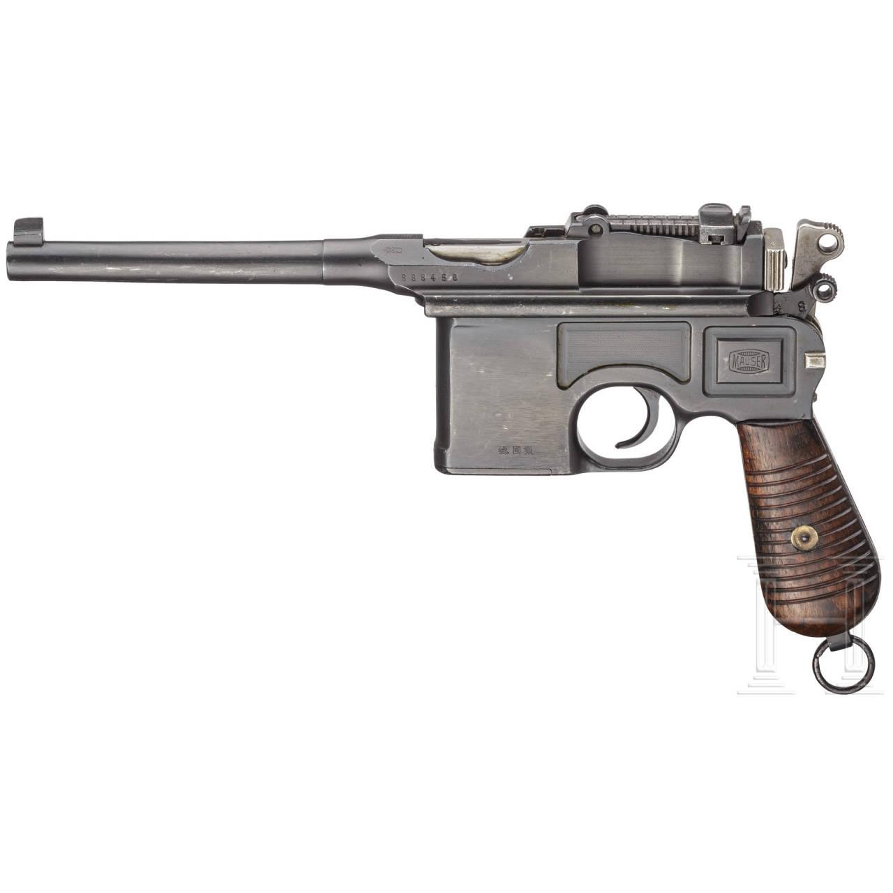 """Mauser C96 """"China Kontrakt"""", mit Anschlagkasten"""