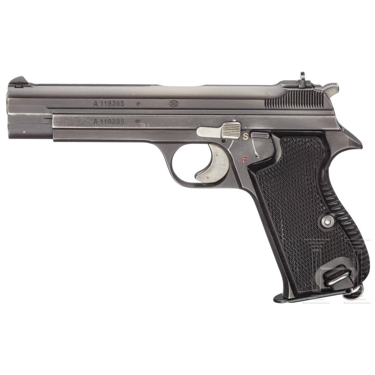 SIG P 210 (Pistole 49), im Karton