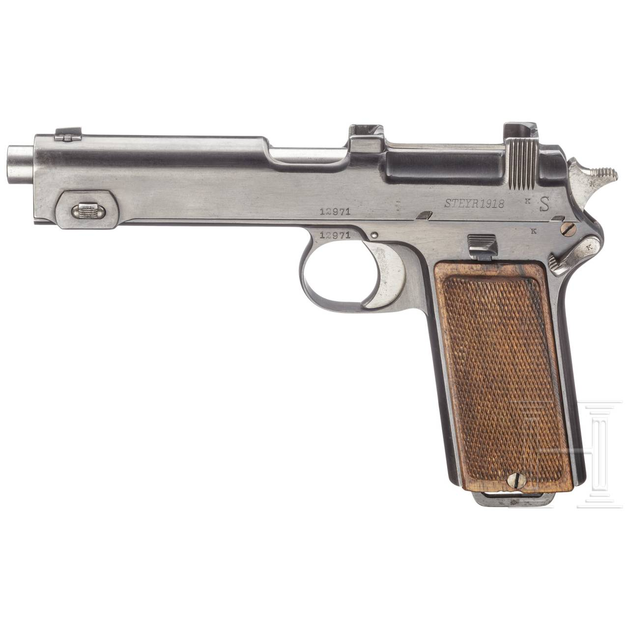 A Steyr Mod. 1912 from the 2nd contract for Bavaria, with holster