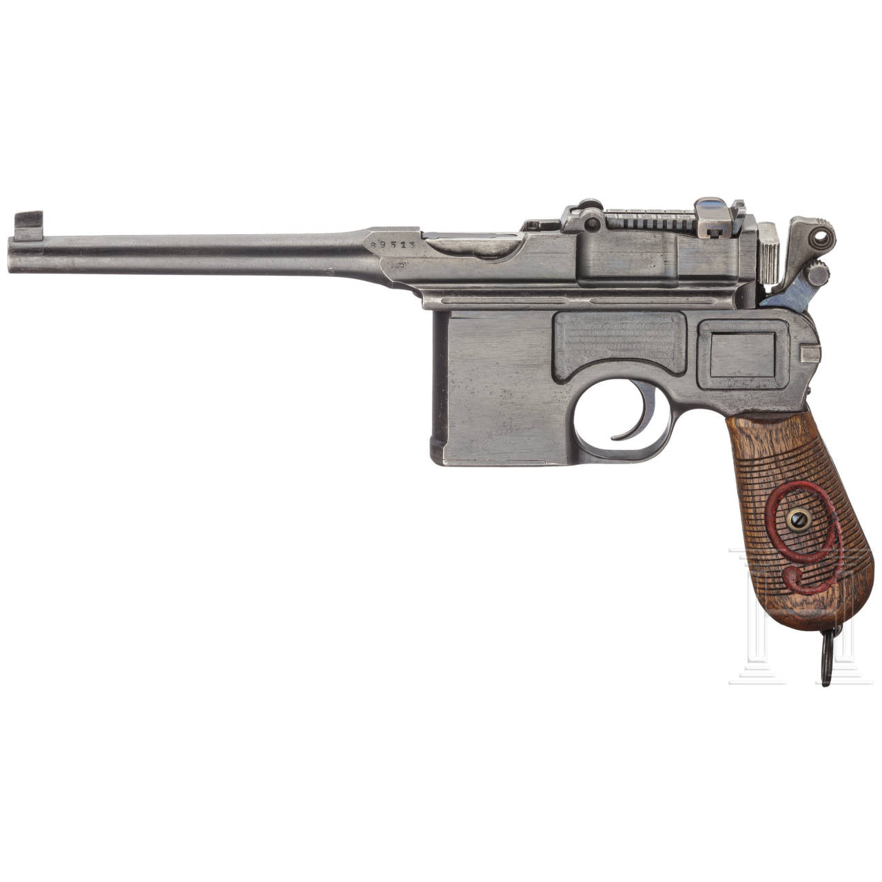 A Mauser C 96/16 with shoulder stock