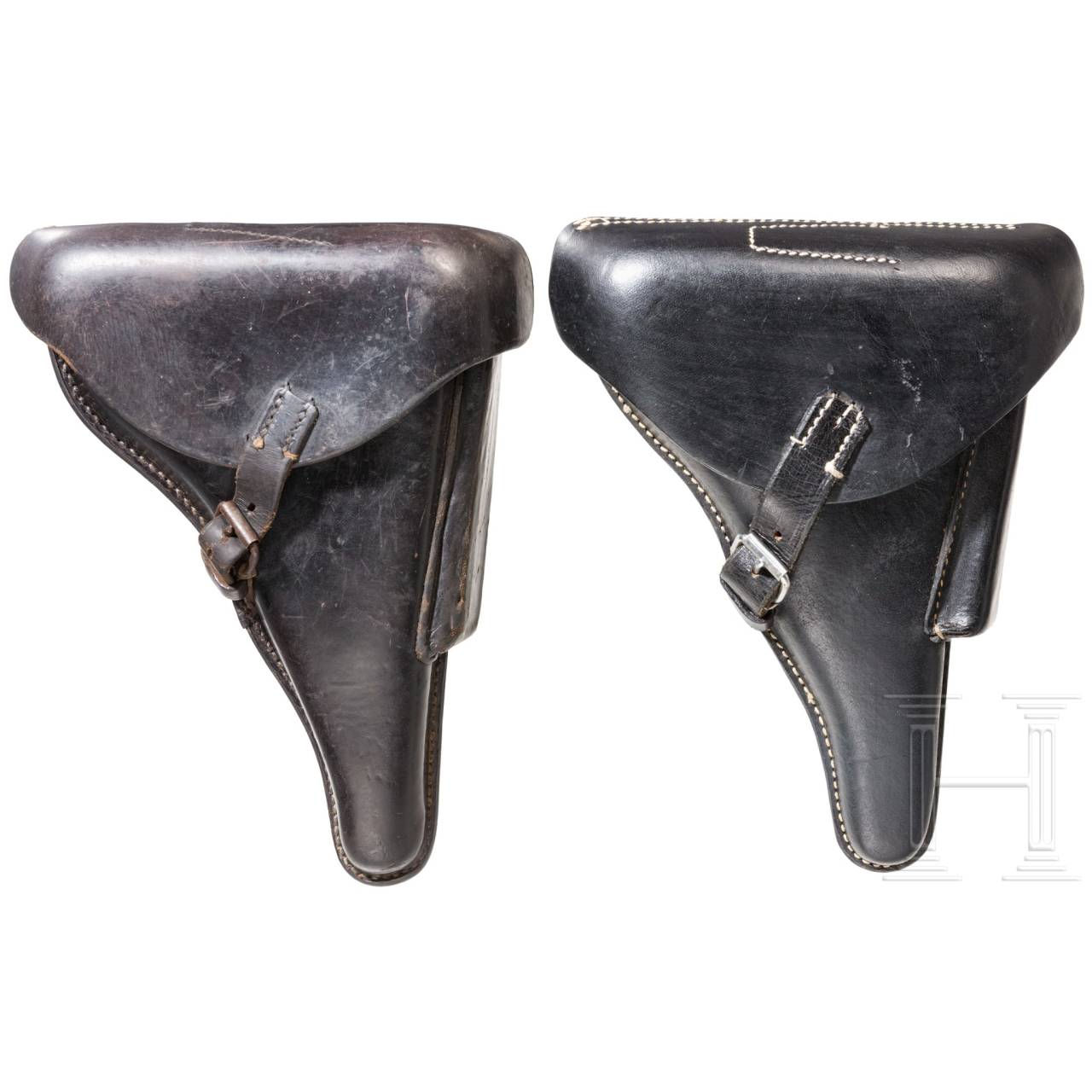 Two hard-shell holsters for the Pistol 08, Wehrmacht