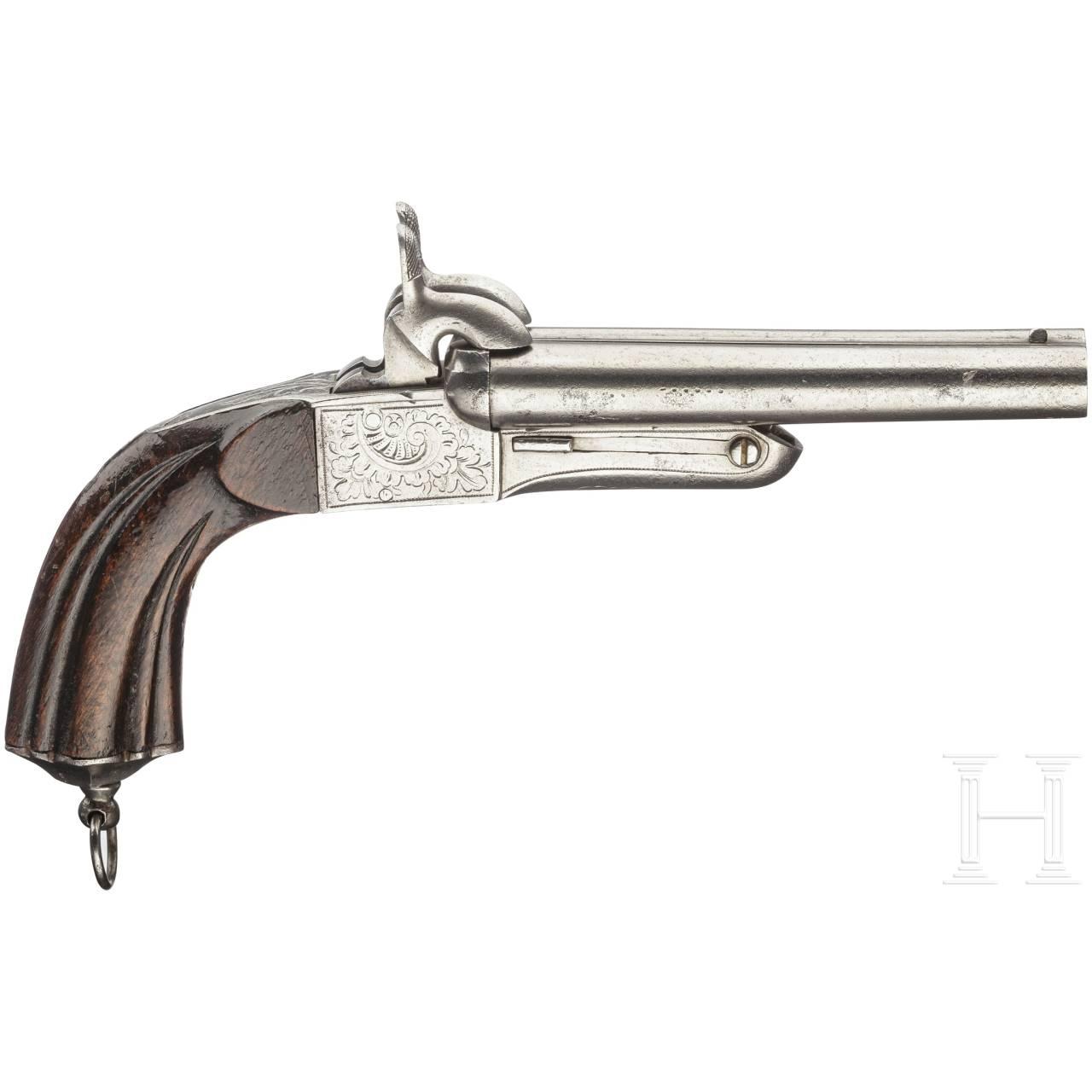 Belgien - doppelläufige Stiftfeuerpistole